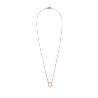 Wanderlust + Co Frame-Circle Crystal Necklace in Rose Gold