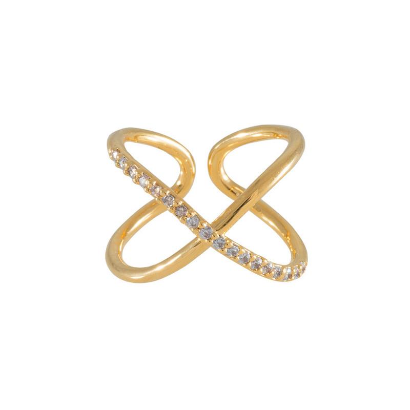 Wanderlust + Co Orbit & Crystal Gold Ring