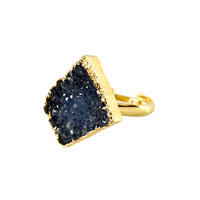 Charlene K Blue Druzy Ring
