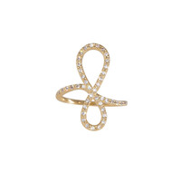 Wanderlust + Co Crystal Infinity Gold Ring