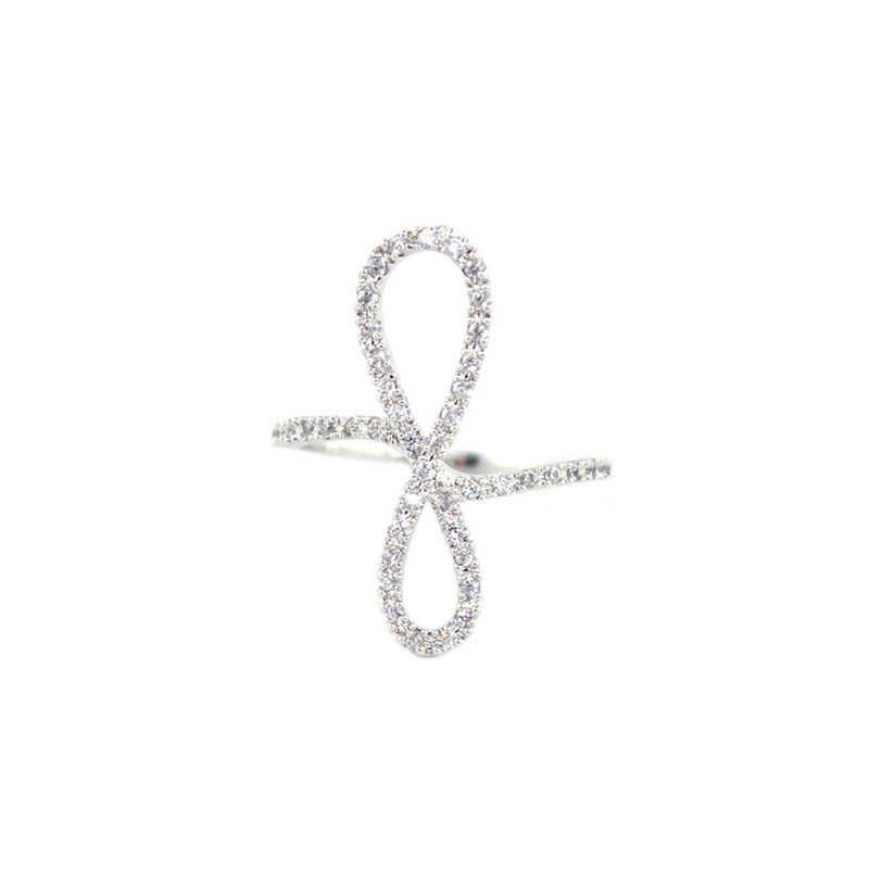 Wanderlust + Co Crystal-Infinity Silver Ring