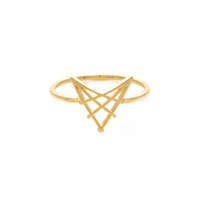 Wanderlust + Co Arrowhead Gold Ring