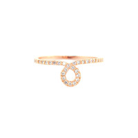 Wanderlust + Co Loop Crystal Rose Gold Ring