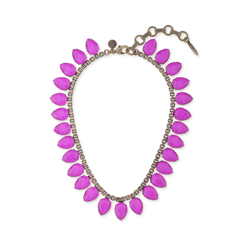 Loren Hope Sylvia Necklace in Electric Purple
