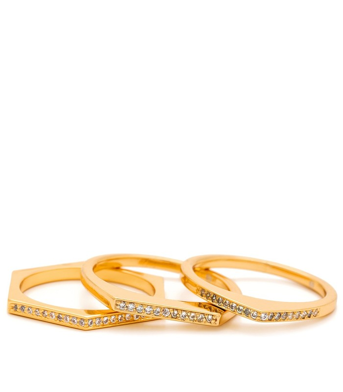 Gorjana Mila Shimmer Ring Set in Gold