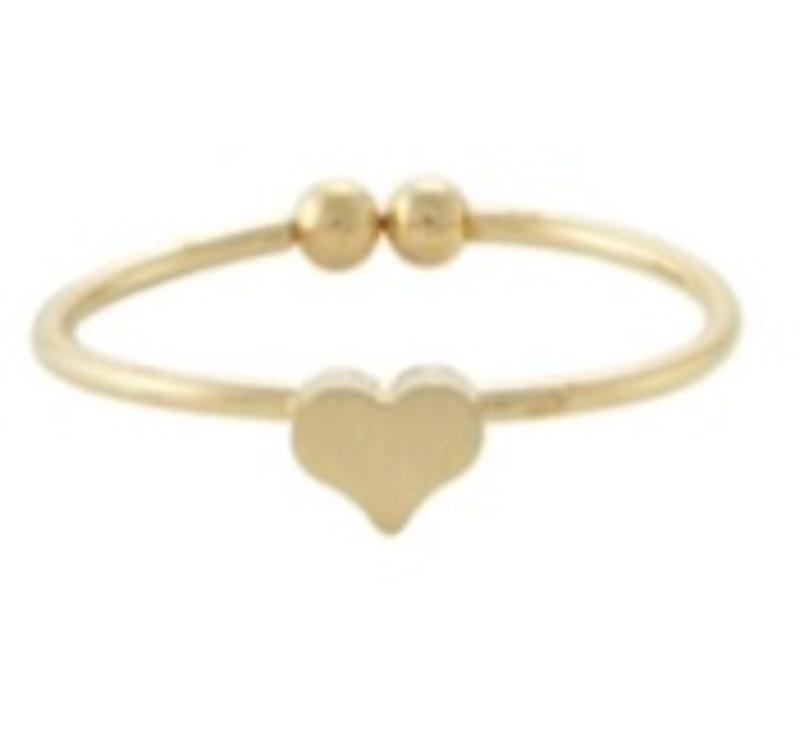 Wanderlust + Co Alphabet Heart Gold Ring