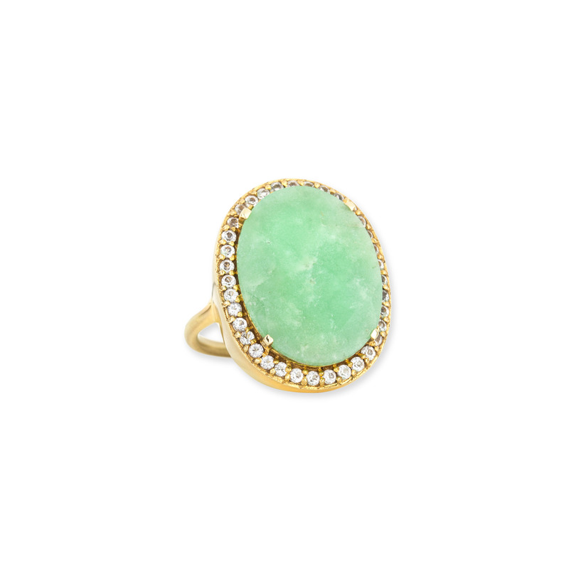 Margaret Elizabeth Ophelia Cocktail Ring in Chrysoprase