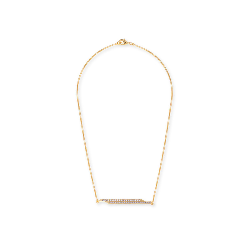 CC Skye Jagged Edge Necklace in Gold