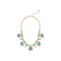 Trina Turk Medallion Collar Necklace in Turquoise