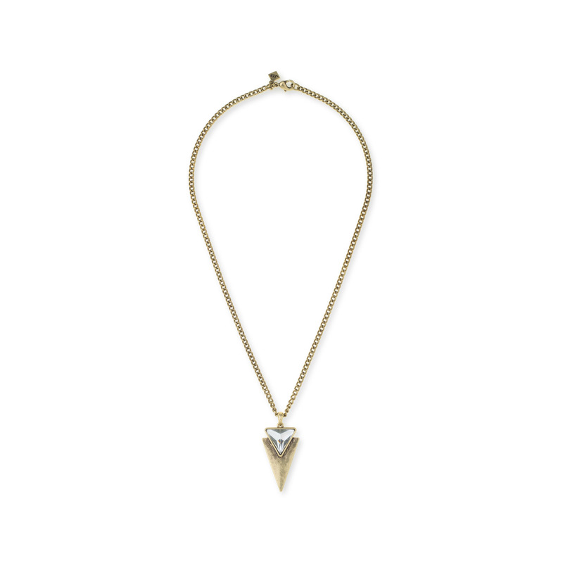 Jenny Bird Flagstaff Necklace in Gold
