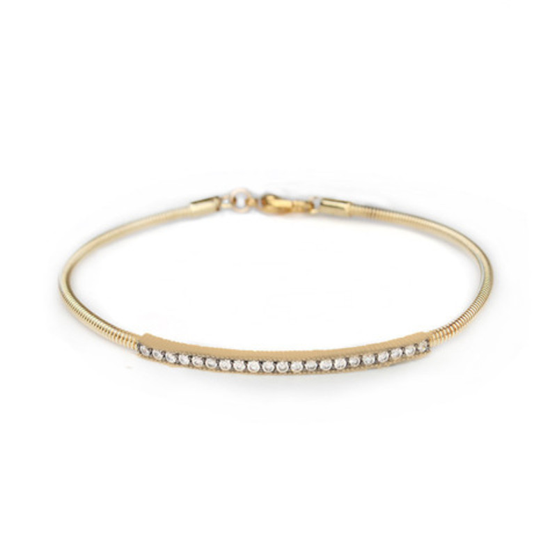 Moon & Lola Rose Hill Bangle in Gold/Clear