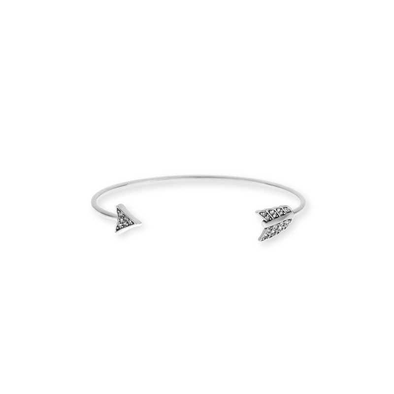 House of Harlow 1960 Arrow Affair Cuff in Silver