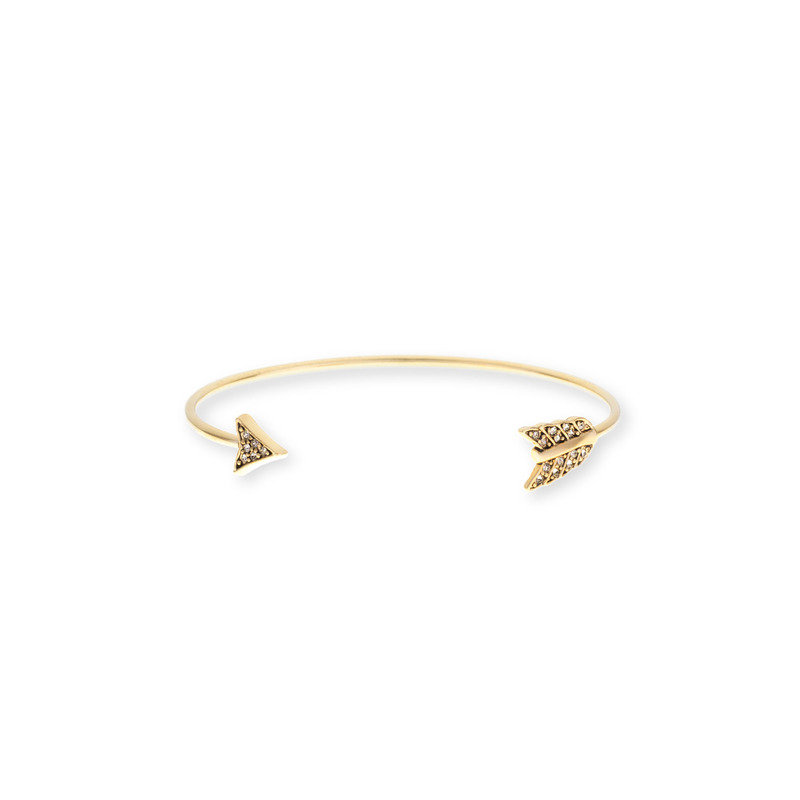 House of Harlow 1960 Arrow Affair Cuff in Gold