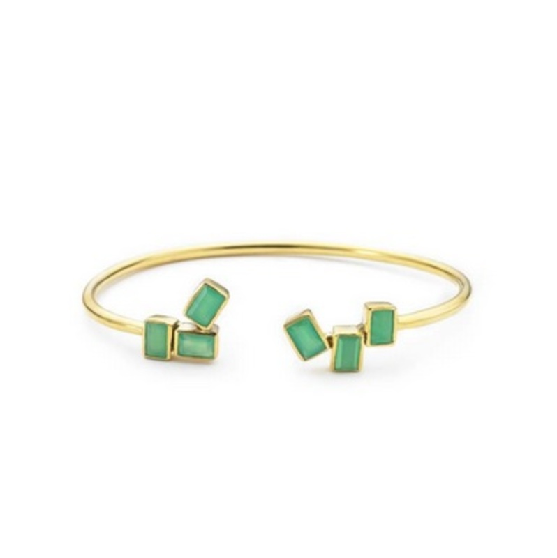 Margaret Elizabeth Ios Bangle in Chrysoprase