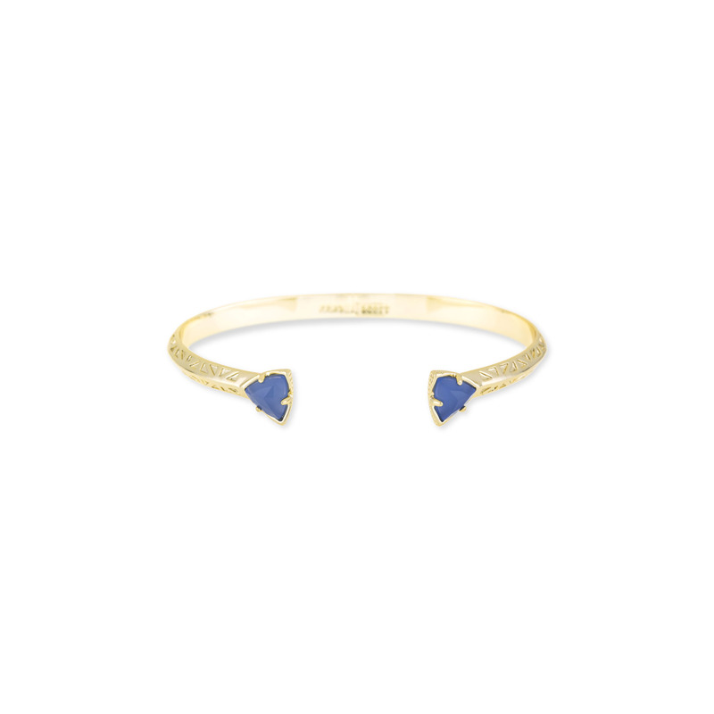 Kendra Scott Grady Bangle in Periwinkle Translucent Glass