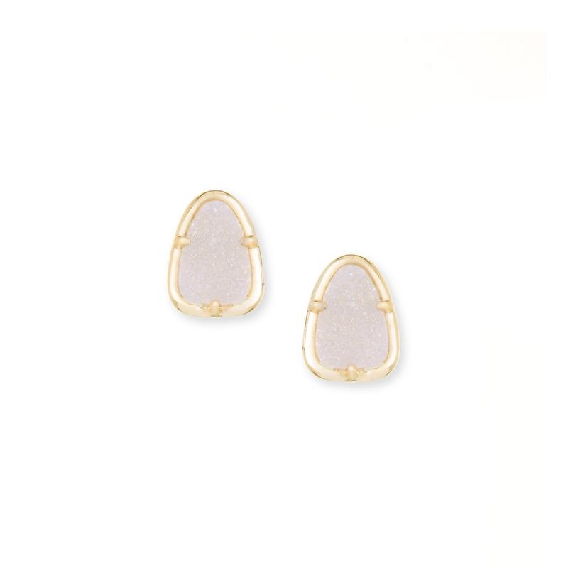 Kendra Scott Hazel Earrings in Gold Iridescent Drusy