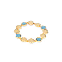 Trina Turk Hexagon Stone Flex Bracelet in Turquoise