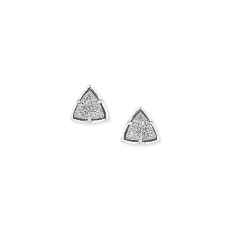 Kendra Scott Parker Studs in Silver Platinum Drusy