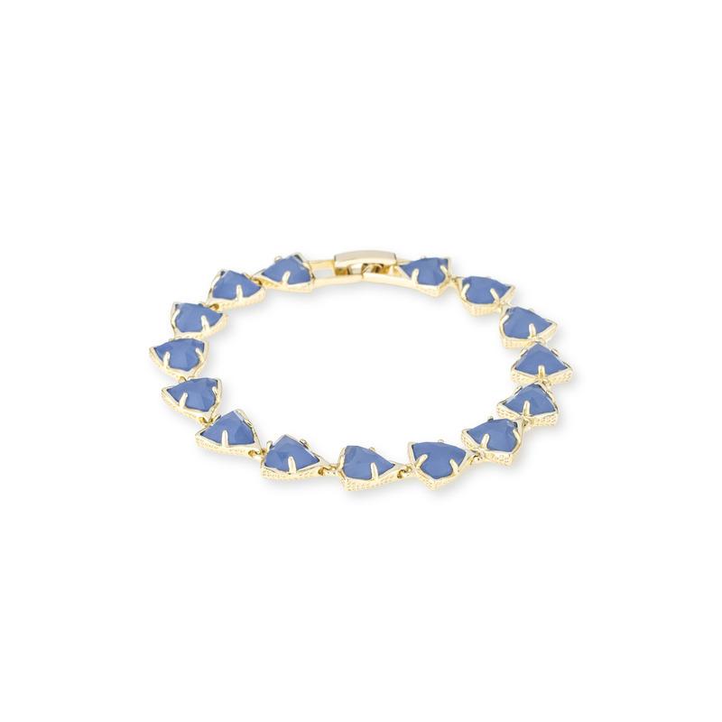 Kendra Scott Ripley Bracelet in Periwinkle Translucent Glass