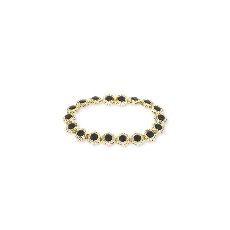House of Harlow 1960 Hexes Tennis Bracelet in Black