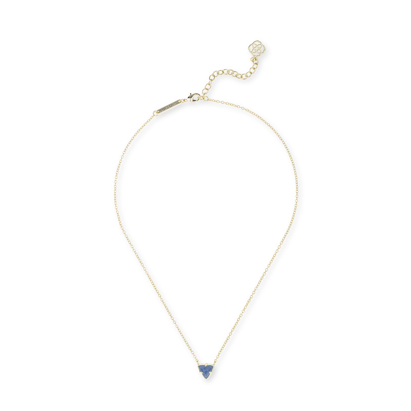 Kendra Scott Perry Necklace in Periwinkle Transclucent Glass