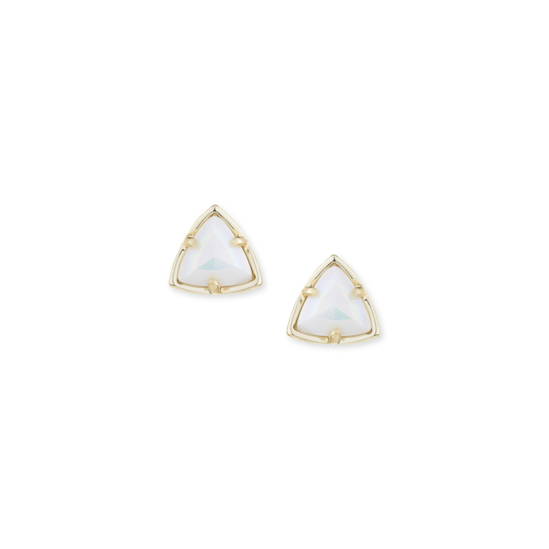 Kendra Scott Parker Studs in  in Iridescent White Opaque Glass