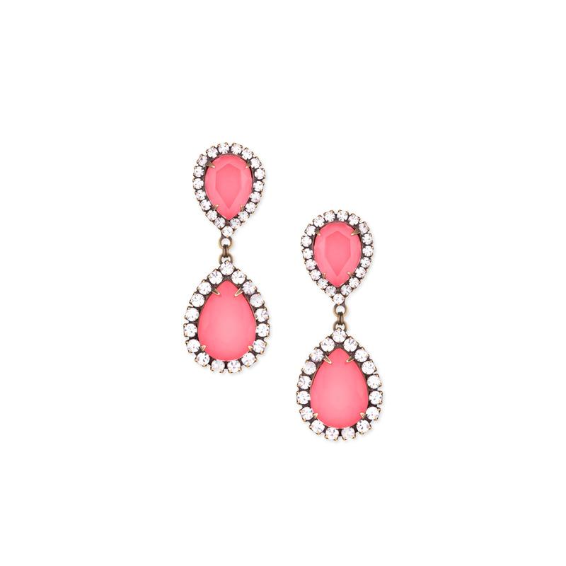 Loren Hope Abba Earrings in Coral