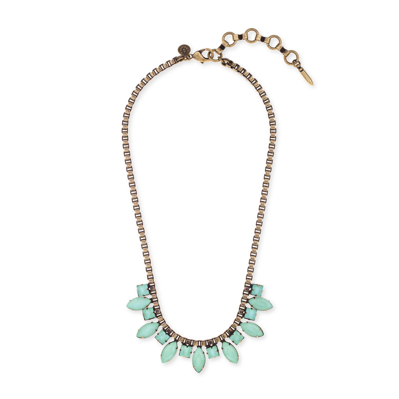 Loren Hope Palmer Necklace in Seafoam