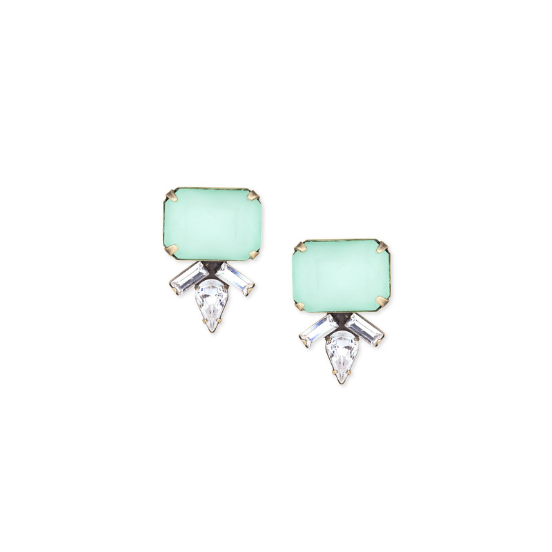 Loren Hope Siren Studs in Seafoam