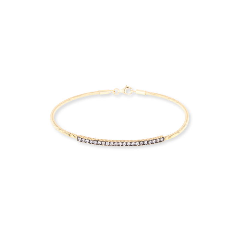 Moon & Lola Rose Hill Bangle in Gold/Black
