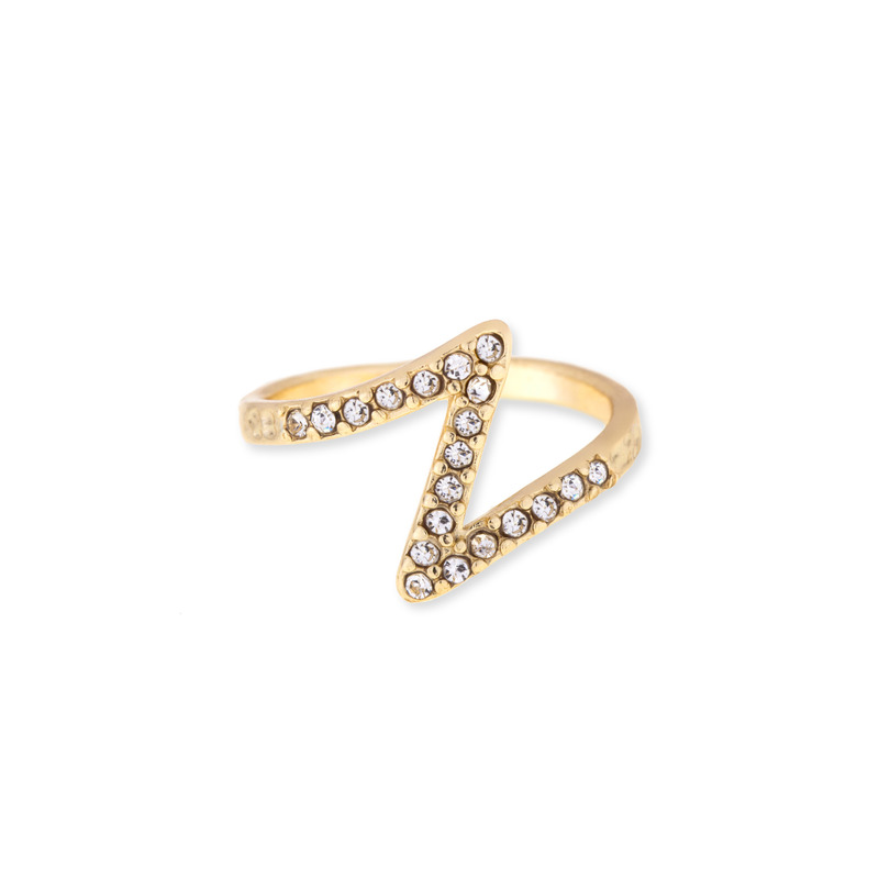 Jules Smith Pave Zeta Ring in Gold