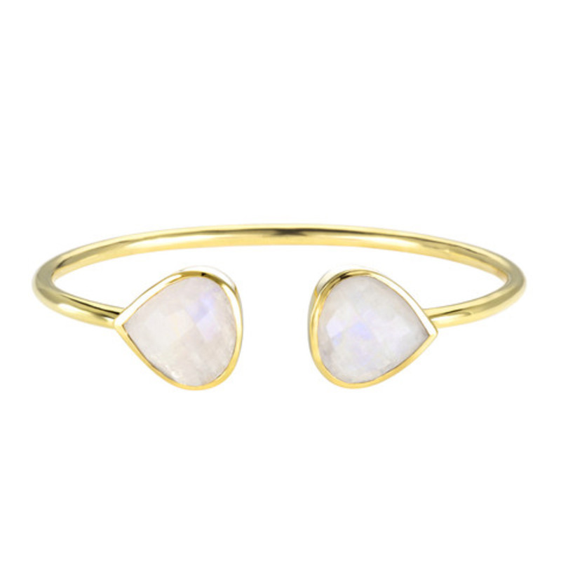 Margaret Elizabeth Teardrop Bangle in Moonstone