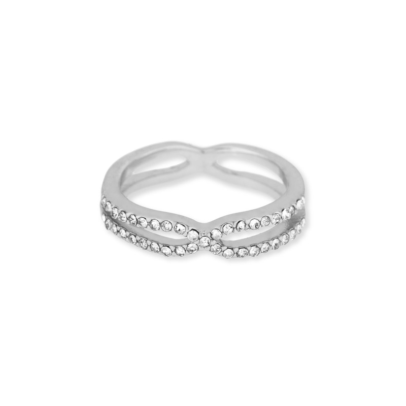 Jules Smith Pave Cinched Ring in Silver