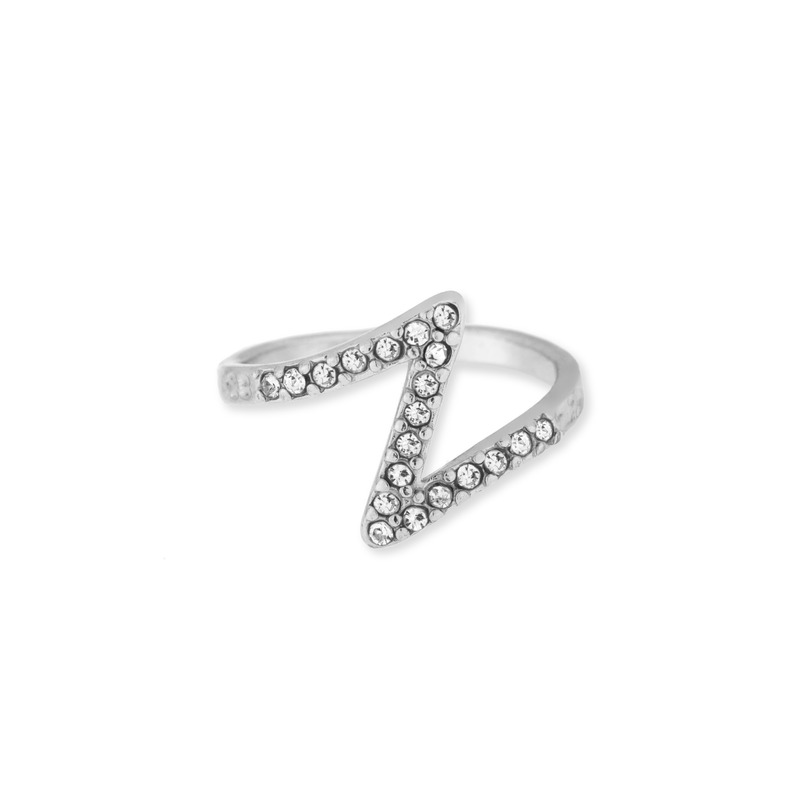Jules Smith Pave Zeta Ring in Silver