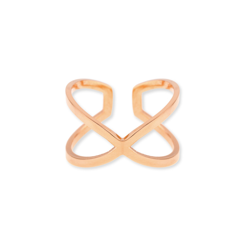 Wanderlust + Co X Double Rose Gold Ring