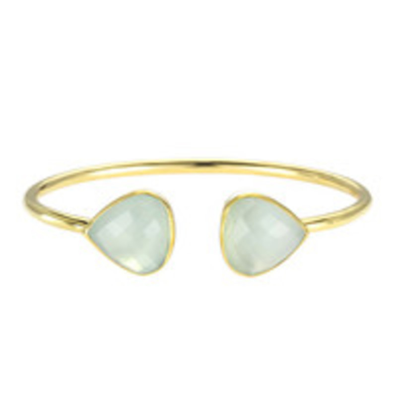 Margaret Elizabeth Teardrop Bangle in Aqua Chalcedony