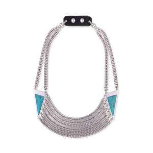 Jenny Bird Frida Collar in Silver and Turquoise