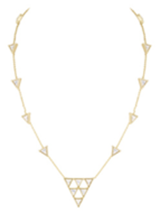 House of Harlow 1960 Triangle Trellis Necklace in White
