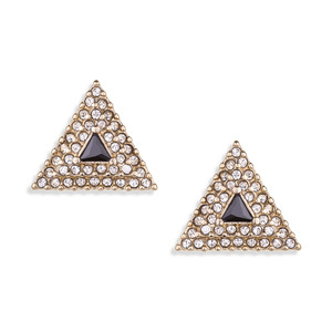 SLATE Pavé Triangle Earrings