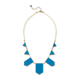 House of Harlow 1960 Five Station Necklace in Teal