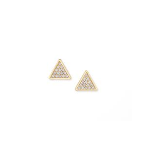 Sophie Harper Pavé Triangle Studs