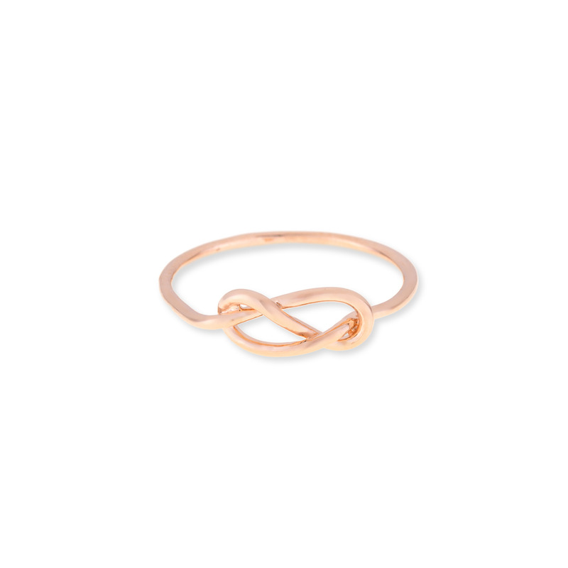Wanderlust + Co Infinity-Pretzel Rose Gold Ring