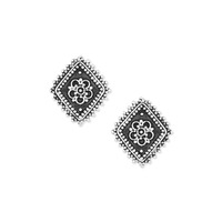 Vanessa Mooney The Diamond Lace Earrings in Silver