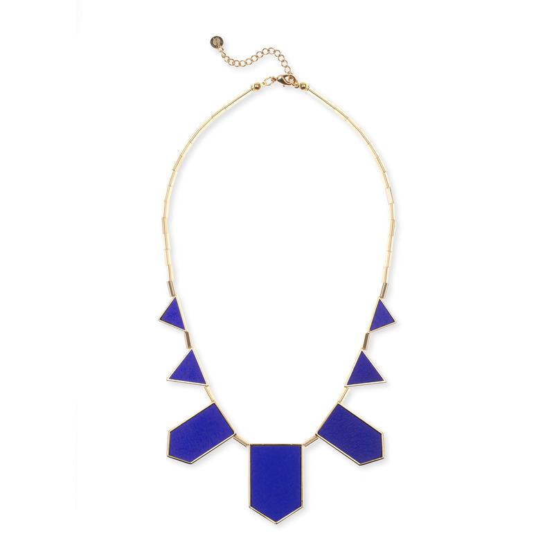 House of Harlow 1960 Five Station Necklace in Cobalt