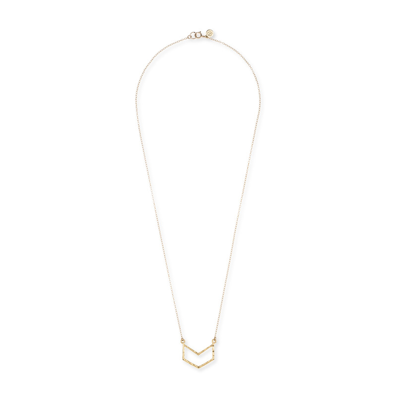 Gorjana Chevron Pendant Necklace in Gold
