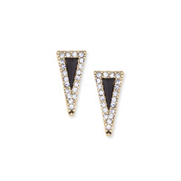 House of Harlow 1960 Acute Pave Triangle Earrings