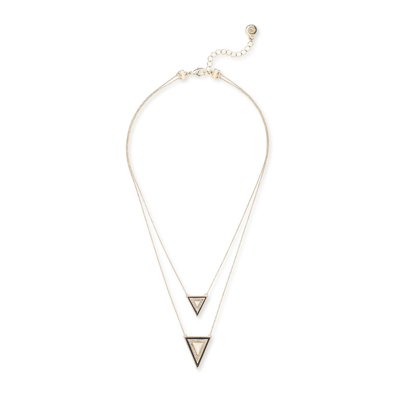 House of Harlow 1960 Teepee Triangle Necklace in White