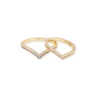 Sophie Harper V Stack Midi Ring Set