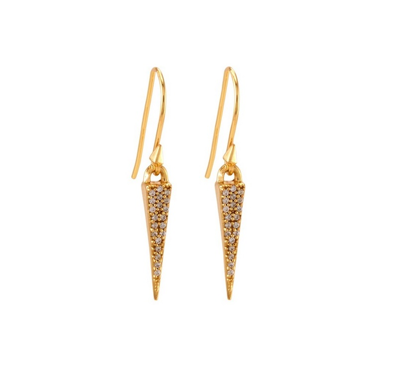 Melinda Maria Katrina Pave Drop Earrings