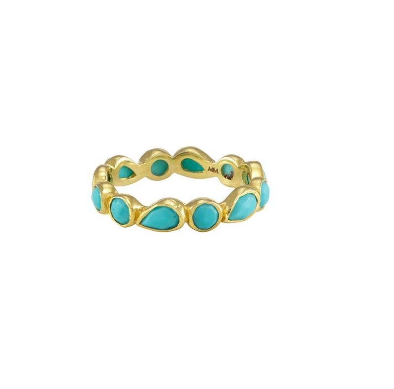 Melinda Maria Isla Ring in Turquoise